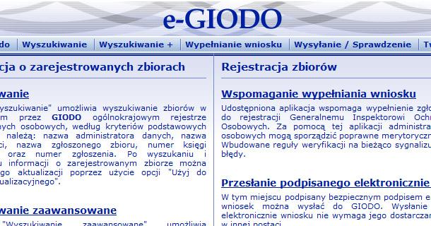 Rejestracja zbiorów i ogólnokrajowy rejestr w Internecie
