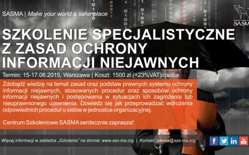 Szkolenie specjalistyczne z zasad ochrony informacji niejawnych